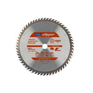 Caixa com 5 Disco de Serra para cortar Madeira e Compósitos Norton Clipper de 184mm com 60 dentes