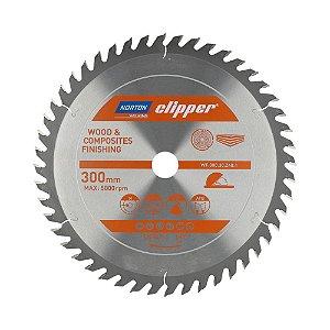 Caixa com 1 Disco de Serra para cortar Madeira e Compósitos Norton Clipper de 300mm com 48 dentes