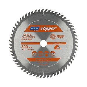 Caixa com 1 Disco de Serra para cortar Madeira e Compósitos Norton Clipper de 300mm com 60 dentes