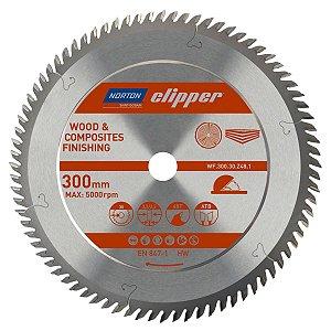 Caixa com 1 Disco de Serra para cortar Madeira e Compósitos Norton Clipper de 300mm com 80 dentes