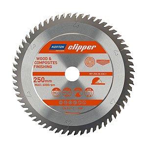 Disco de Serra para cortar Madeira e Compósitos Norton Clipper de 250mm com 60 dentes