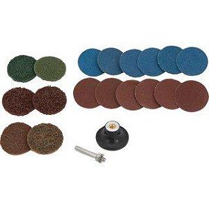 Jogo de discos de lixa com esponja abrasiva 50 mm, 20 peças, VONDER