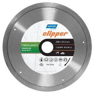 Disco de Corte Clipper Porcelanato Premium Diamantado 200 x 25,4 mm