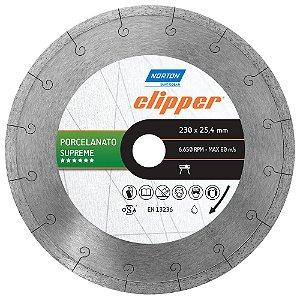 Disco de Corte Clipper Porcelanato Diamantado Supreme 230 x 25,4 mm