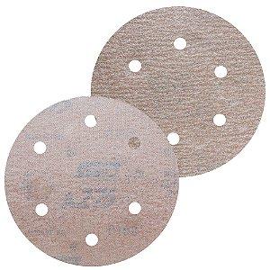 Disco de Lixa Pluma A275 Com 6 Furos Grão 120 - 152 mm