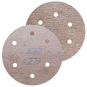 Disco de Lixa Pluma A275 Com 6 Furos Grão 280 - 152 mm