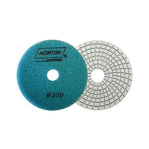 Disco de Lixa Diamantada Flexível Brilho D'Água Grão 100 - 100 x 20 mm