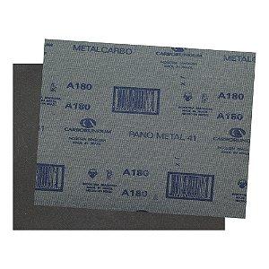 Folha de Lixa Ferro CAR41 Grão 180 - 225 x 275 mm