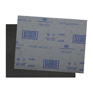 Folha de Lixa Ferro CAR41 Grão 80 - 225 x 275 mm