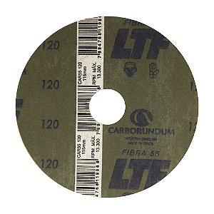 Disco de Lixa Fibra CAR55 Grão 120 115 x 22 mm