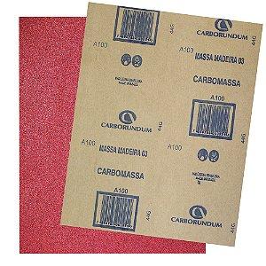Folha de Lixa Massa CAR03 Grão 100 - 225 x 275 mm