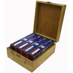 Caixa com 1 Kit Baú 4 Pedras de Afiar para Alta Gastronomia Carborundum