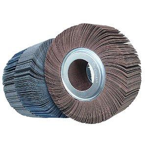 Roda de Lixa Flap PG Polikontour PK R263 Óxido de Alumínio Grão 100 - 50 x 150 mm