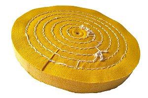 Disco de Polimento Costurado Algodão Amarelo - 150 mm