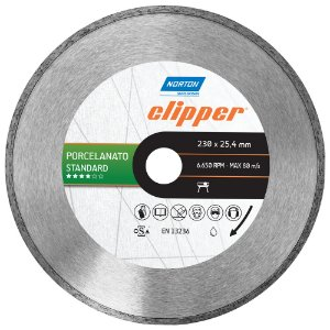 Disco de Corte Clipper Porcelanato Diamantado Standard 230 x 25,4 mm