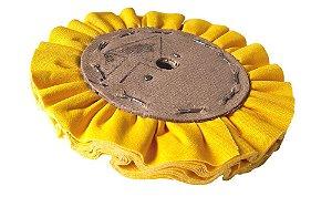 Disco de Polimento Ventilado Algodão Amarelo - 150 mm