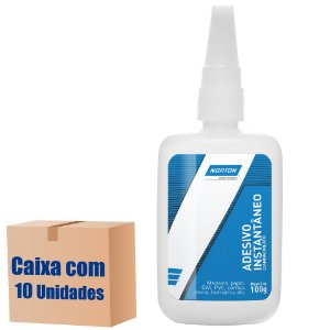 Caixa com 10 Adesivo Instântaneo Cianoacrilato 100 g