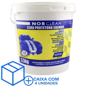 Caixa com 4 Cera Hobby Norclean Pote 3,5 Kg