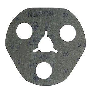 Disco de Avos Fibra F828 Grão 80 115 x 22 x 3 mm Caixa com 100