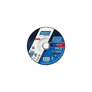 Caixa com 25 Disco de Corte BDA22 Azul com Depressão 115 x 2 x 22,23 mm
