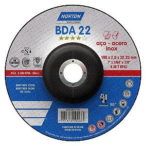 Disco de Corte BDA22 Azul com Depressão 180 x 2 x 22,23 mm Caixa com 25