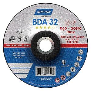 Disco de Corte BDA32 Azul com Depressão 230 x 3 x 22,23 mm Caixa com 25