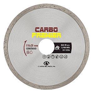 Disco de Corte Carbo Primier Diamantado Contínuo 110 x 5 x 20 mm Caixa com 10