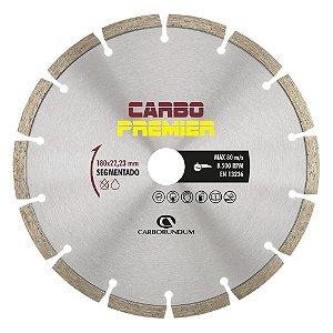 Caixa com 5 Disco de Corte Carbo Primier Diamantado Segmentado 180 x 22,23 mm