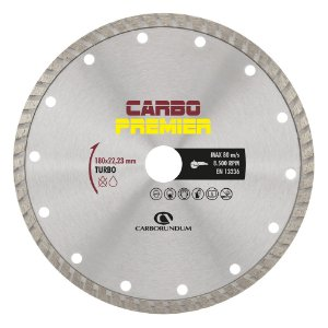 Disco de Corte Carbo Primier Diamantado Turbo 180 x 22,23 mm Caixa com 5