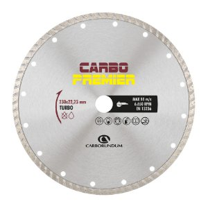 Disco de Corte Carbo Primier Diamantado Turbo 230 x 22,23 mm Caixa com 5