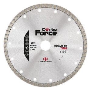 Caixa com 5 Disco de Corte Carboforce Diamantado Turbo 180 x 22,23 mm