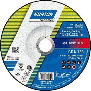 Caixa com 25 Disco de Corte CDA123 Super Aços Multiuso 115 x 2,8 x 22,23 mm