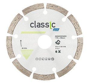 Caixa com 10 Disco de Corte Classic Segmentado Diamantado 110 x 20 mm