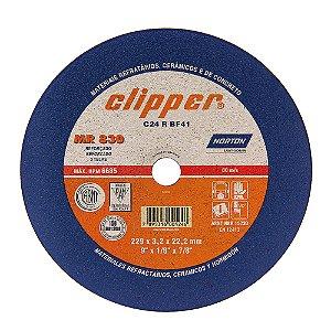 Disco de Corte Clipper MR830 Não Ferroso 230 x 3 x 22,23 mm Caixa com 25