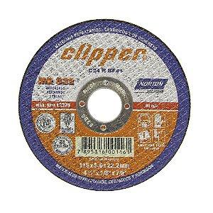 Disco de Corte Clipper MR832 Não Ferroso 115 x 3 x 22,23 mm Caixa com 25
