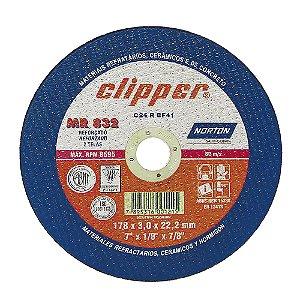 Caixa com 25 Disco de Corte Clipper MR832 Não Ferroso 180 x 3 x 22,23 mm