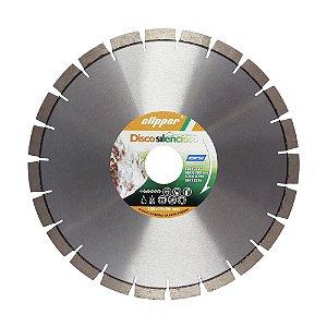 Caixa com 1 Disco de Corte Clipper Pedra Diamantado Silencioso 350 x 50 mm