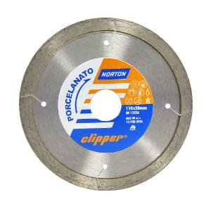 Disco de Corte Clipper Porcelanato Diamantado 110 x 8 x 20 mm Caixa com 5