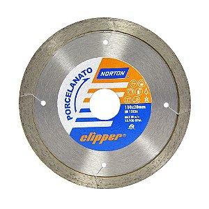 Disco de Corte Clipper Porcelanato Diamantado 110 x 8 x 22,23 mm Caixa com 5