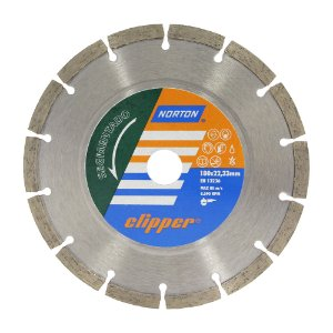 Disco de Corte Clipper Segmentado Diamantado 180 x 8 x 22,23 mm Caixa com 5
