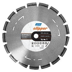 Disco de Corte Clipper Segmentado Diamantado Asfalto Premium 350 x 25,4 mm Caixa com 1