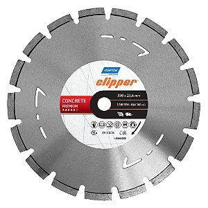 Caixa com 1 Disco de Corte Clipper Segmentado Diamantado Concreto Premium 350 x 25,4 mm