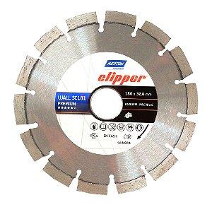 Caixa com 5 Disco de Corte Clipper Wall Constrution Diamantado Premium 180 x 30 mm