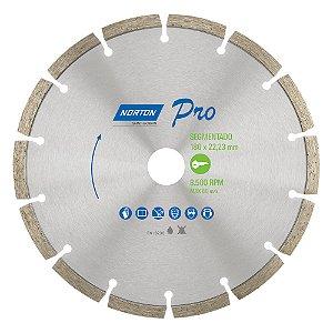 Disco de Corte Pro Segmentado Diamantado 180 x 22,23 mm Caixa com 5