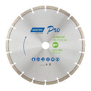 Caixa com 5 Disco de Corte Pro Segmentado Diamantado 230 x 22,23 mm