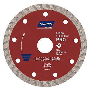 Caixa com 10 Disco de Corte Pro Turbo Diamantado 110 x 20 mm
