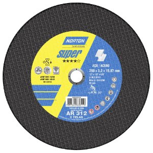 Disco de Corte Super Aços AR312 250 x 3,2 x 15,87 mm Caixa com 10