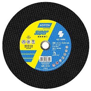Disco de Corte Super Aços AR312 300 x 3,2 x 19,05 mm Caixa com 10