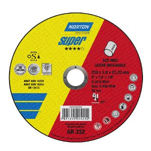 Disco de Corte Super Aços AR332 230 x 3 x 22,23 mm Caixa com 25