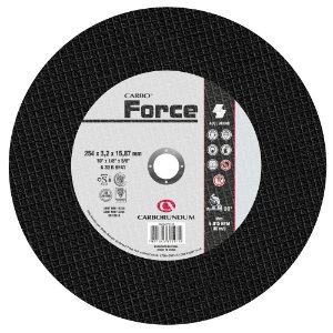 Disco de Corte T41 Carbo Force 254 x 3,2 x 15,87 mm Caixa com 10